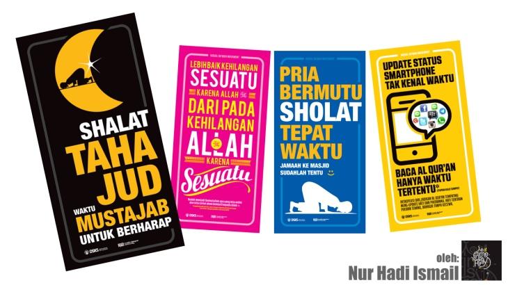 Koleksi poster Islami untuk masjid atau sekolah